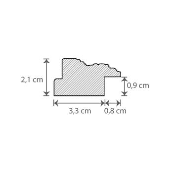 Individueller Bilderrahmen / Puzzlerahmen / Posterrahmen, Modell Windsor Querschnitt
