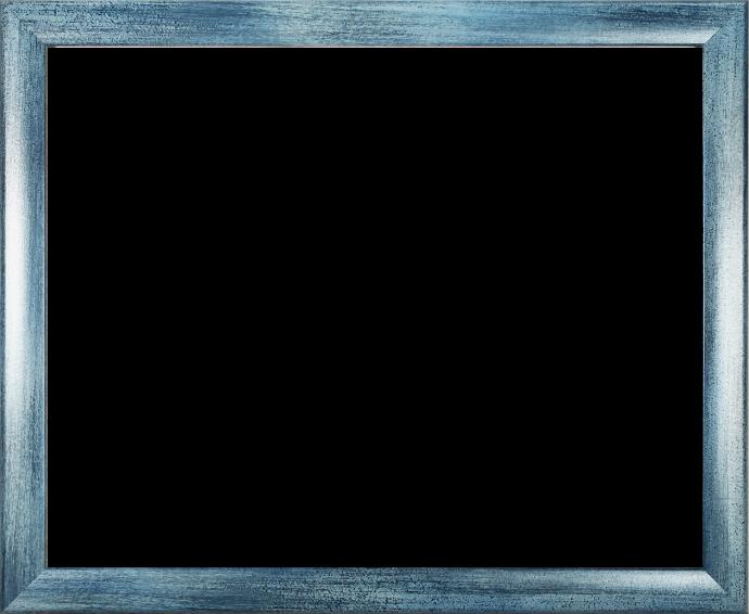 Individueller MDF Bilderrahmen Sonderformat Modell Pisa Hellblau gewischt