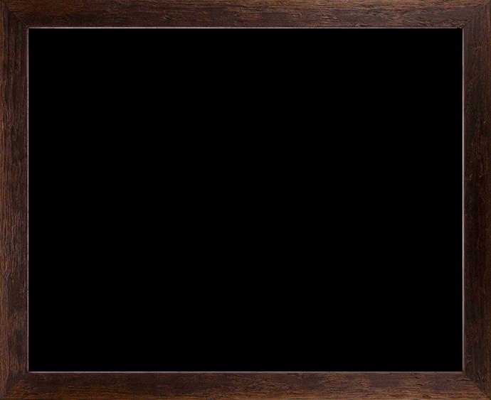 Individueller Bilderrahmen Modell Riga Farbe Dunkelbraun Verwittert