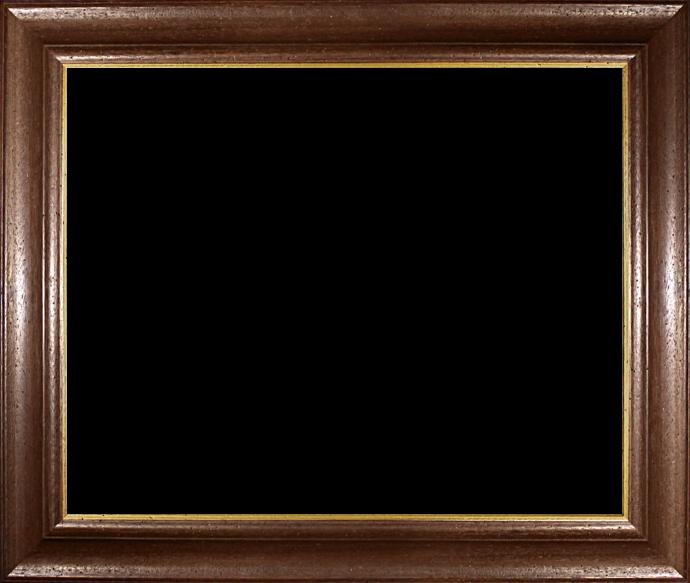 Individueller Bilderrahmen Modell Vienna Farbe Nussbraun Gold