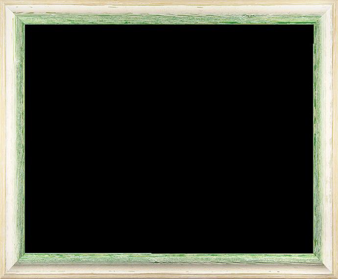 Individueller Bilderrahmen Modell Amalfi in der Farbe Beige Vintage Grün
