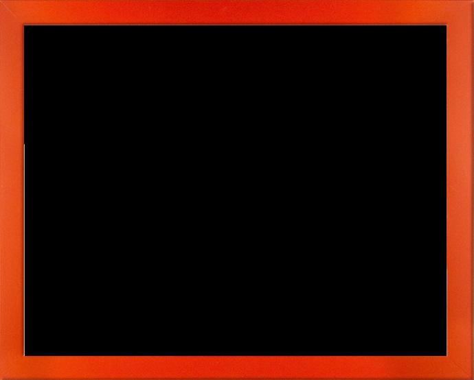 Individueller Bilderrahmen Modell Monaco Farbe Orange schlicht