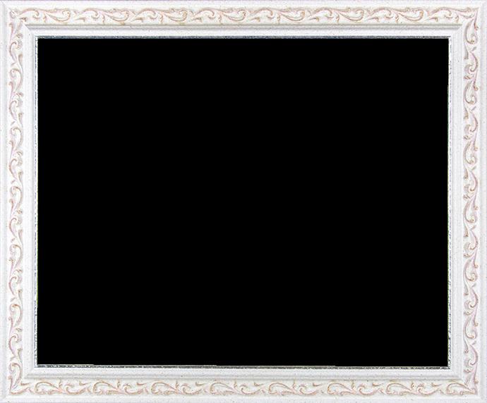 Individueller Bilderrahmen Modell Venedig in der Farbe Weiß Rosé