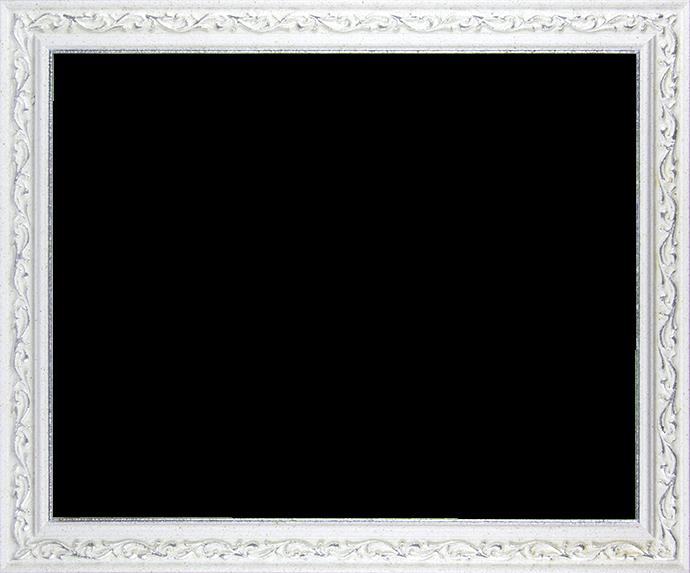Individueller Bilderrahmen Modell Venedig in der Farbe Weiß Silber