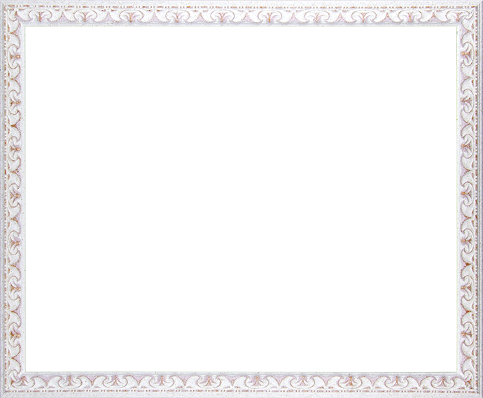 Individueller Bilderrahmen Modell Mallorca Farbe Weiß Rose