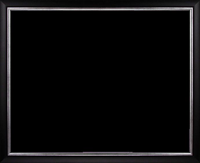 Individueller Bilderrahmen Modell Palermo Farbe Schwarz Silber