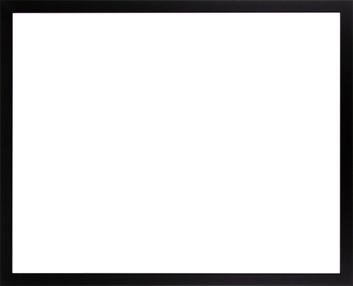 Individueller Bilderrahmen Modell Talon Farbe Schwarz Matt