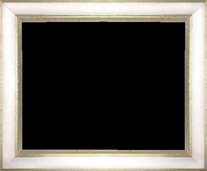 Individueller Bilderrahmen Modell Vienna Farbe Weiß Silber