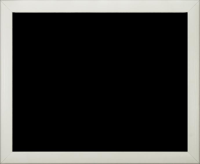 Individueller MDF Bilderrahmen Sonderformat Modell Pisa Weiß gemasert
